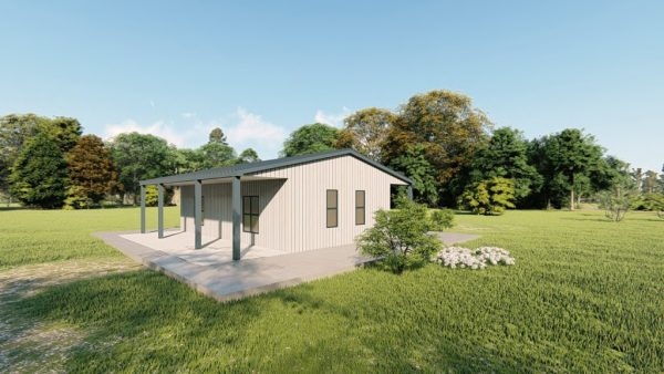 Houses 30x30 home metal building rendering 4