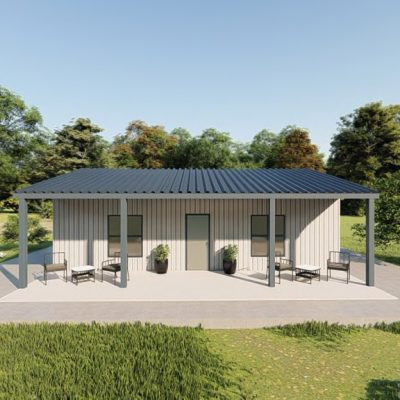 Houses 30x30 home metal building rendering 5 1