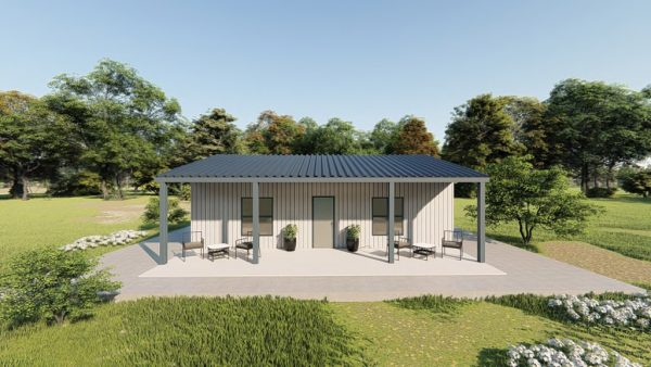 Houses 30x30 home metal building rendering 5