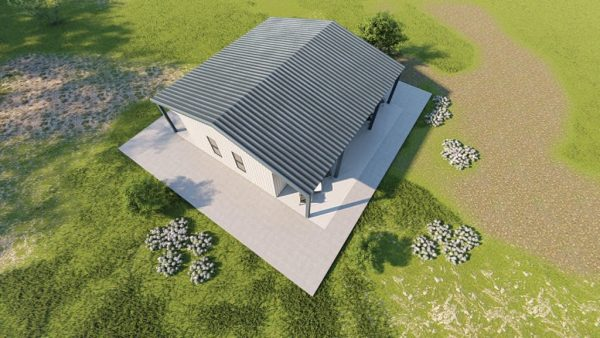 Houses 30x30 home metal building rendering 6