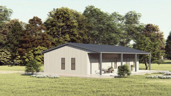 Houses 30x40 home metal building rendering 1