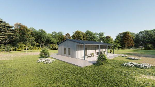 Houses 30x40 home metal building rendering 3