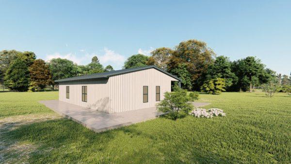 Houses 30x40 home metal building rendering 4
