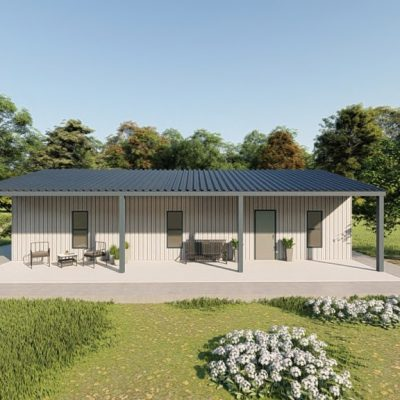 Houses 30x40 home metal building rendering 5