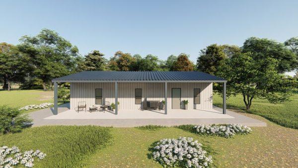 Houses 30x40 home metal building rendering 5