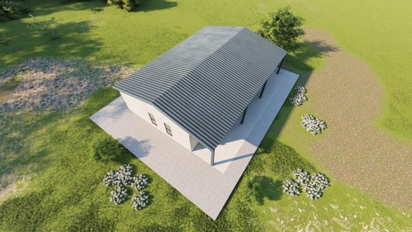 Houses 30x40 home metal building rendering 6