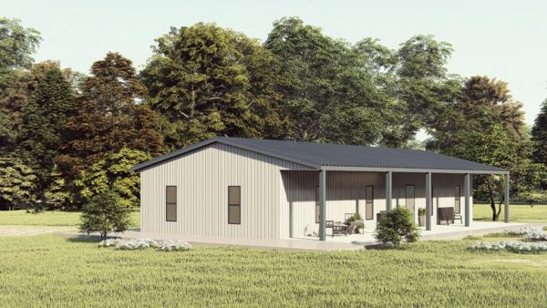 Houses 30x50 home metal building rendering 1