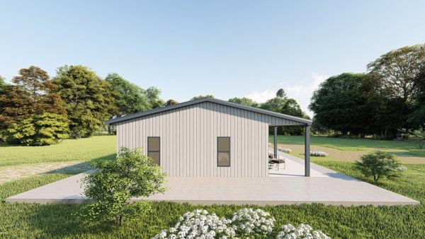 Houses 30x50 home metal building rendering 2