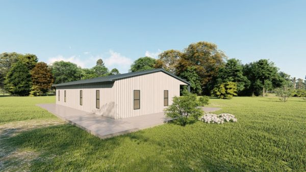 Houses 30x50 home metal building rendering 4