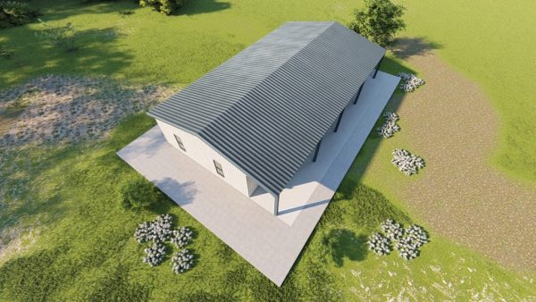 Houses 30x50 home metal building rendering 6