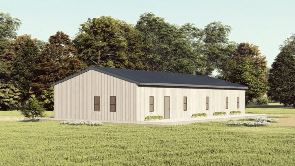 Houses 30x60 home metal building rendering 1