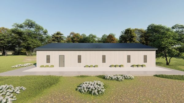 Houses 30x60 home metal building rendering 5