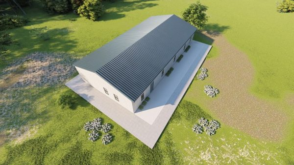 Houses 30x60 home metal building rendering 6