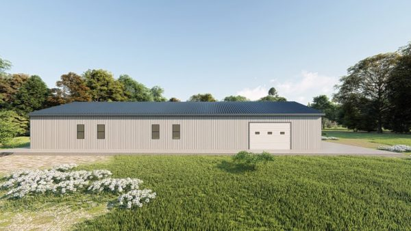 Houses 80x90 home metal building rendering 2