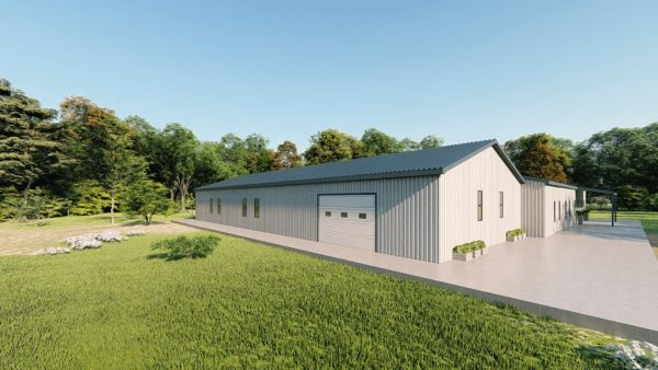 Houses 80x90 home metal building rendering 3