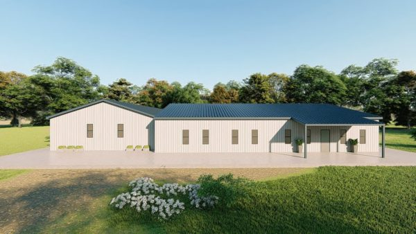 Houses 80x90 home metal building rendering 5
