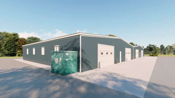 Industrial metal building rendering 4