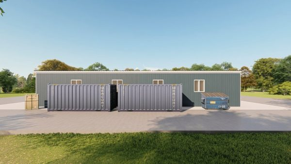 Industrial metal building rendering 5
