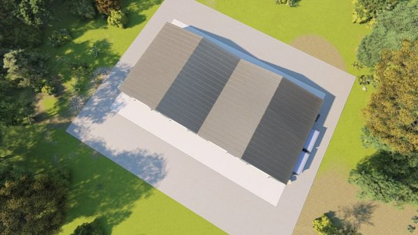 Industrial metal building rendering 6