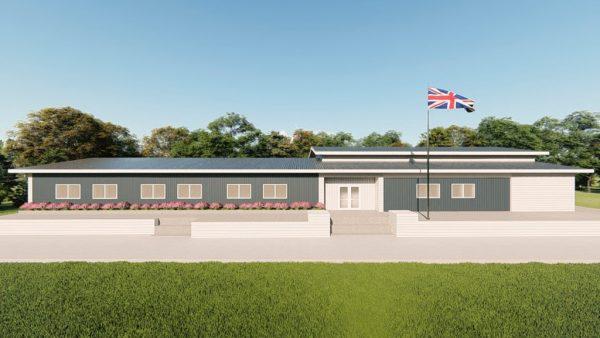 Institutional metal building rendering 2
