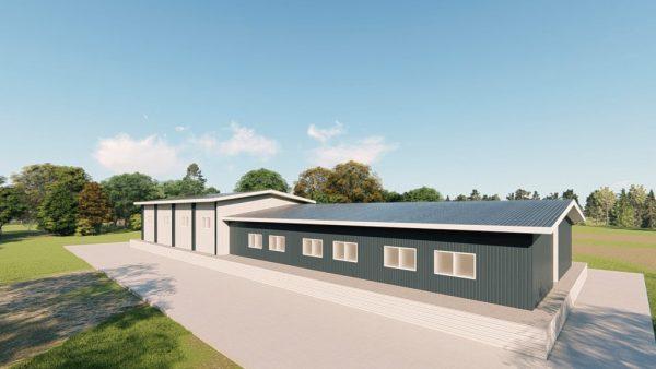 Institutional metal building rendering 4