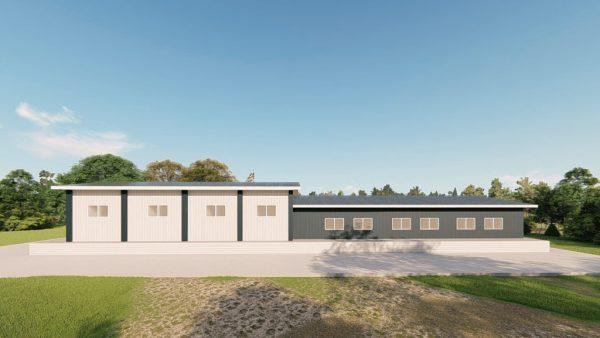 Institutional metal building rendering 5