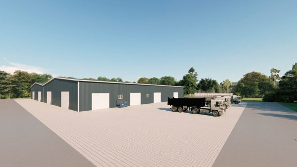 Manufacturing metal building rendering 3