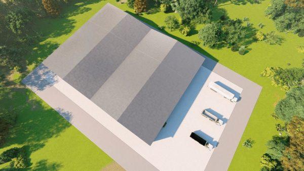 Manufacturing metal building rendering 6