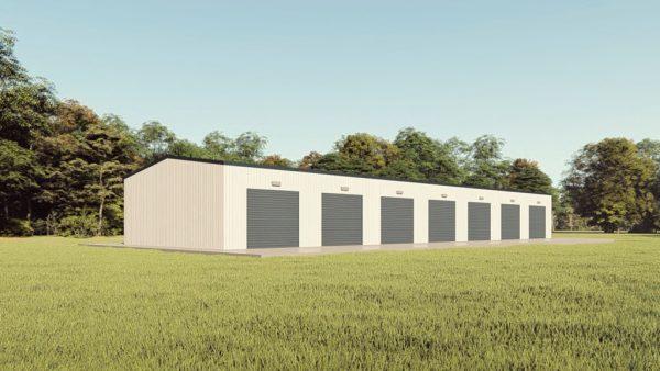 Mini storage 30x100 mini storage metal building rendering 1