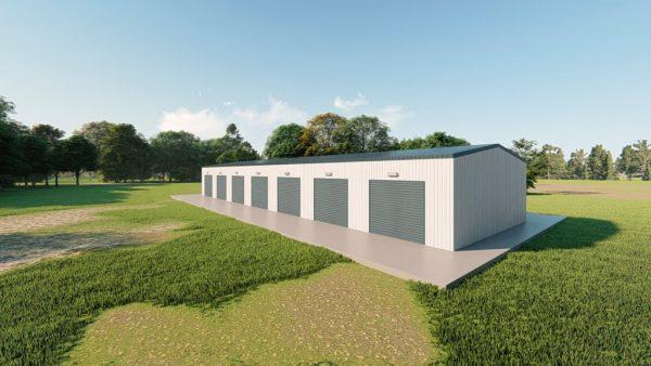 Mini storage 30x100 mini storage metal building rendering 3