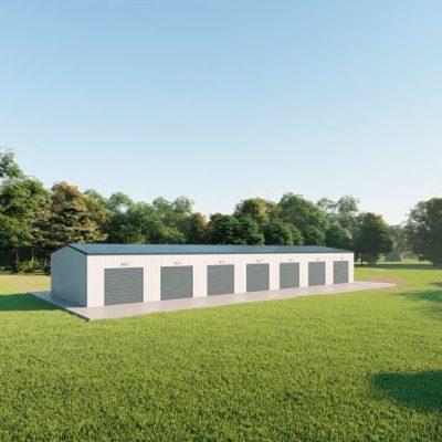 Mini storage 30x100 mini storage metal building rendering 4