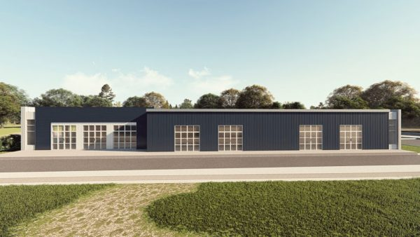 Office metal building rendering 1