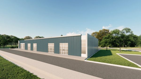 Office metal building rendering 2