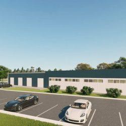 Office metal building rendering 4