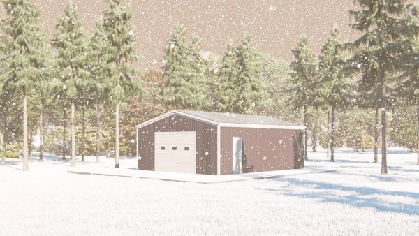 Outbuildings metal building rendering 1