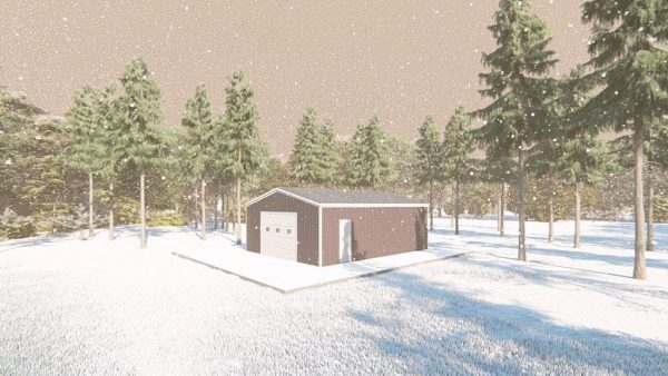 Outbuildings metal building rendering 3