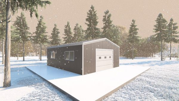 Outbuildings metal building rendering 4