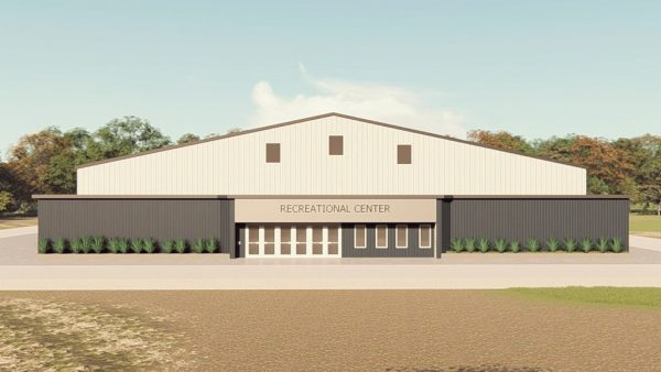Recreational metal building rendering 1