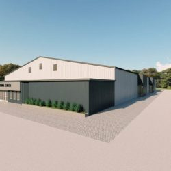 Recreational metal building rendering 2