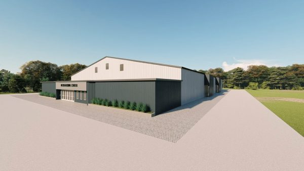 Recreational metal building rendering 2