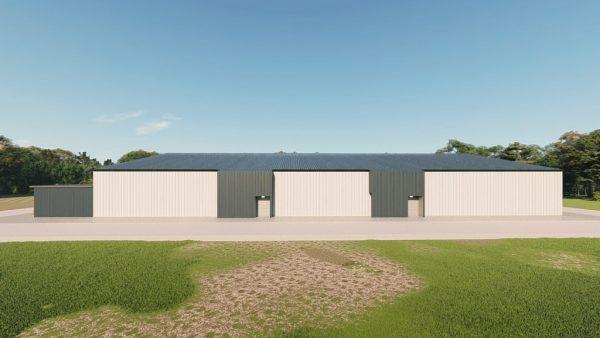 Recreational metal building rendering 3