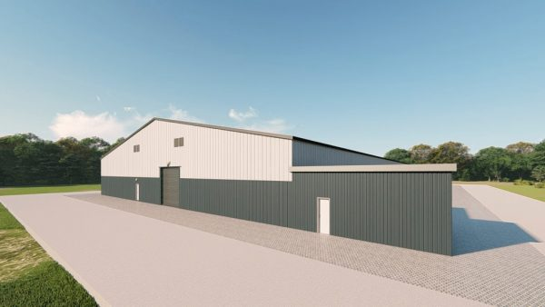 Recreational metal building rendering 5