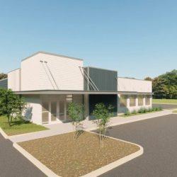 Retail metal building rendering 4