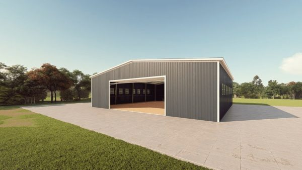 Riding arenas metal building rendering 1