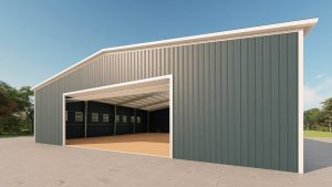 Riding arenas metal building rendering 3