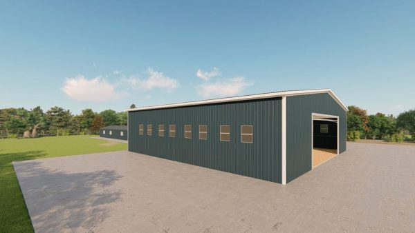 Riding arenas metal building rendering 4