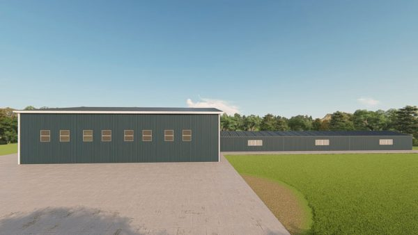 Riding arenas metal building rendering 5