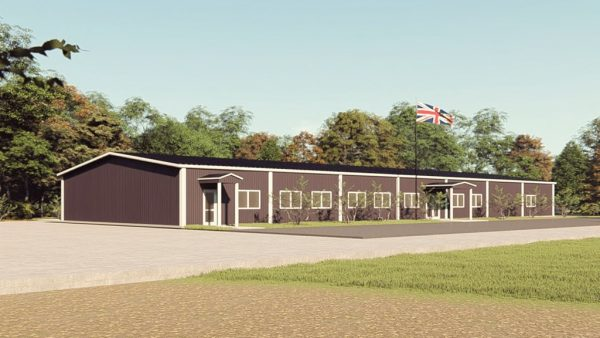 School metal building rendering 1