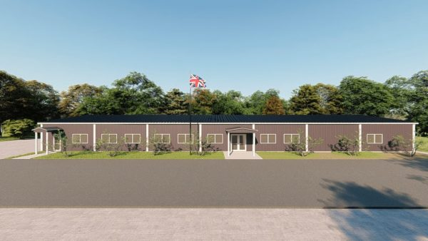 School metal building rendering 2
