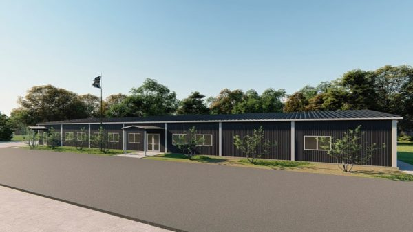 School metal building rendering 3